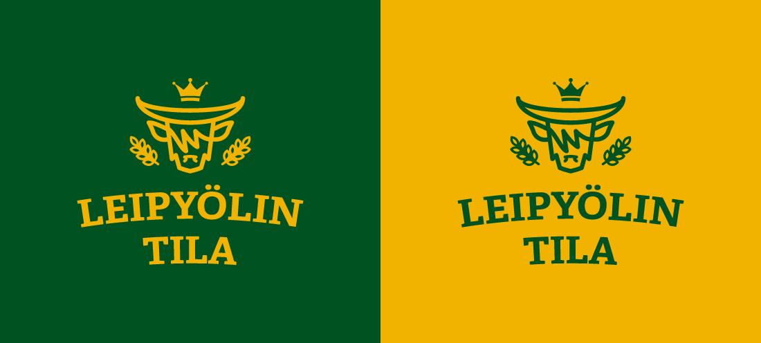 Leipyölin tilan logot väripohjilla